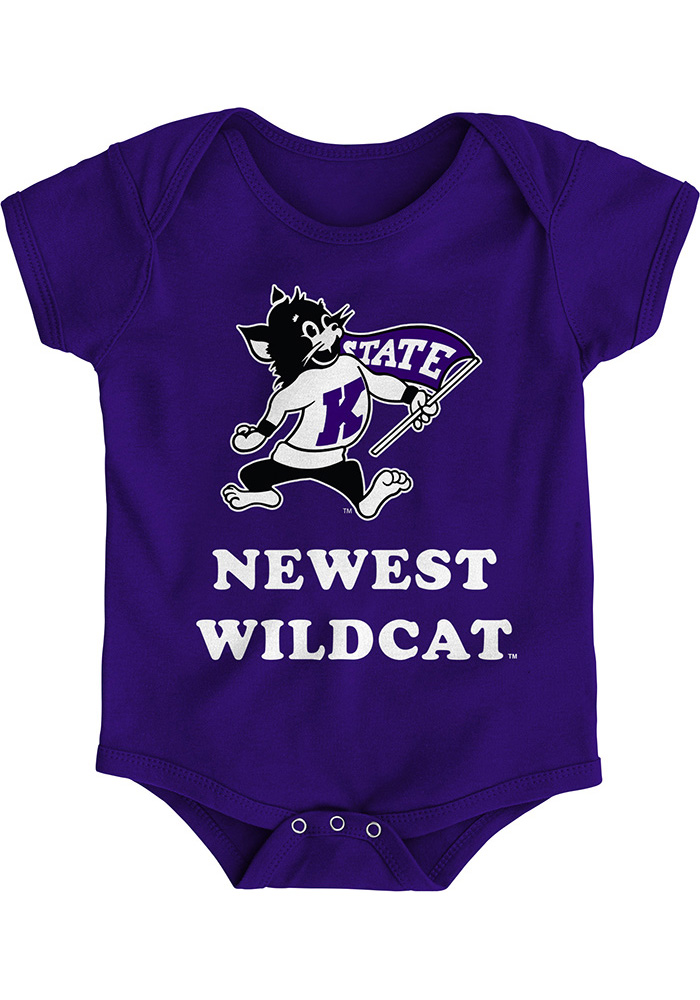 K-State Wildcats Baby Purple Newest Short Sleeve One Piece - Image 1