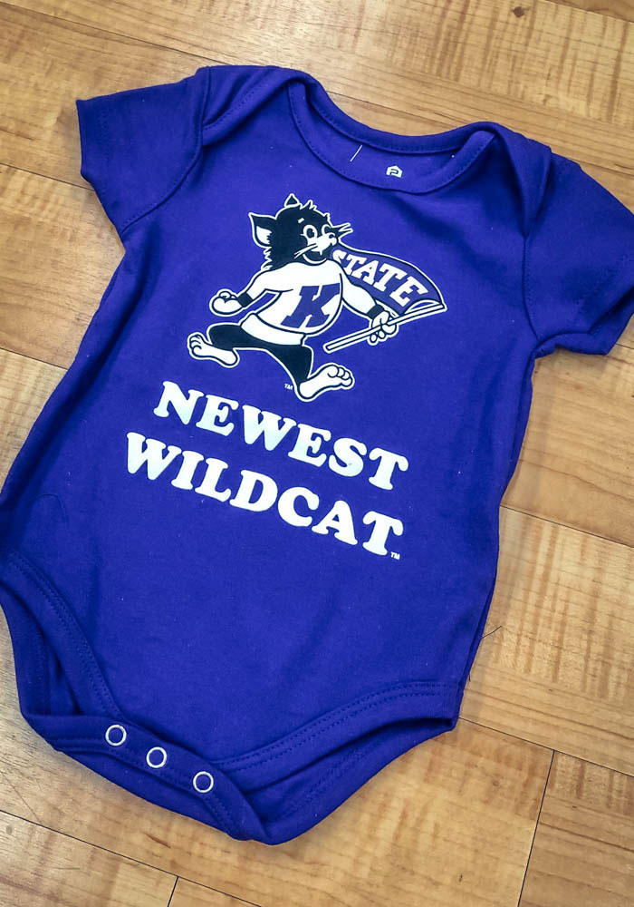 K-State Wildcats Baby Purple Newest Short Sleeve One Piece - Image 2