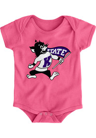 K-State Wildcats Baby Pink Secondary Logo One Piece