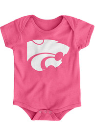K-State Wildcats Baby Pink Primary Logo One Piece