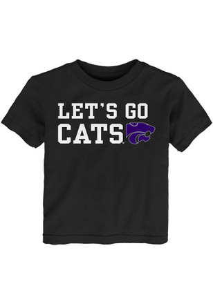 K-State Wildcats Toddler Black Lets Go Cats T-Shirt