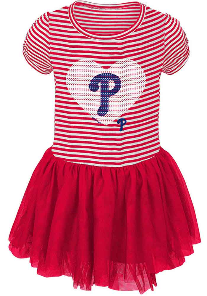 promo code 22da0 e602d Philadelphia Phillies Infant Girls Red Celebration Dress
