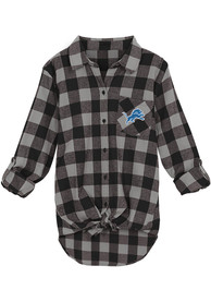 Detroit Lions Womens Spirit Week Dress Shirt - Black