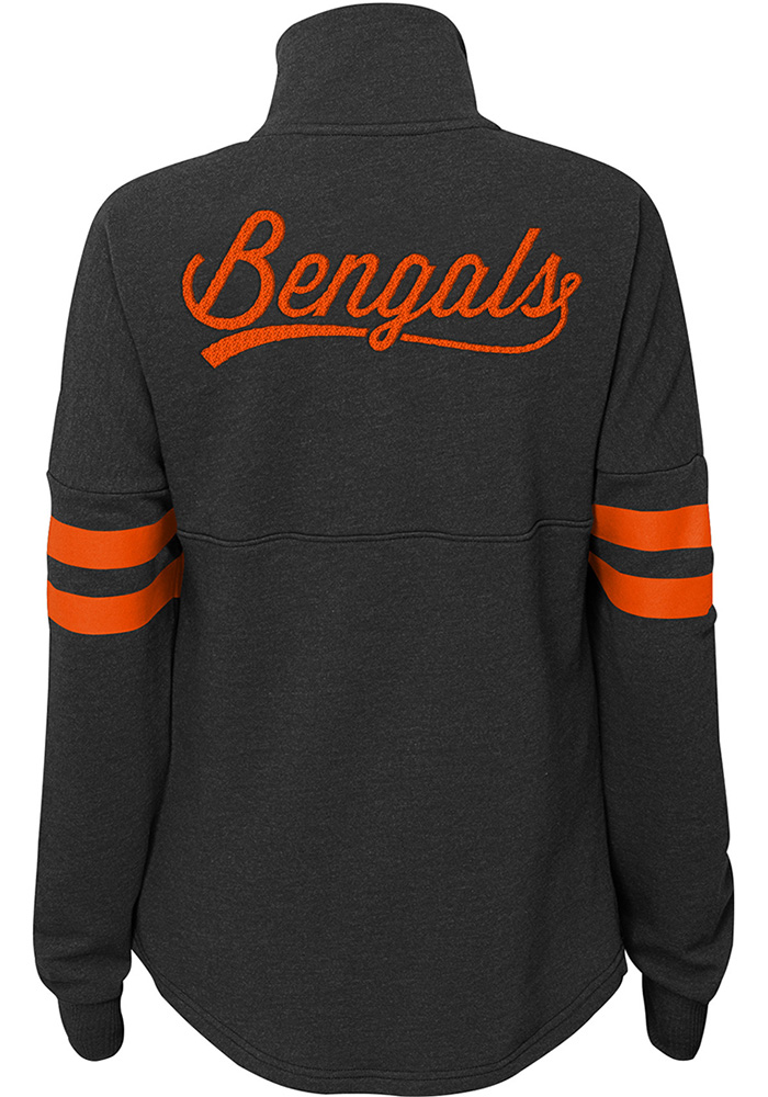 Cincinnati Bengals Womens Black Classic Throw 1/4 Zip Pullover - Image 2