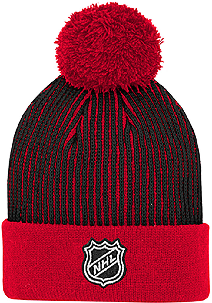 Chicago Blackhawks Red Legacy Youth Knit Hat - Image 2