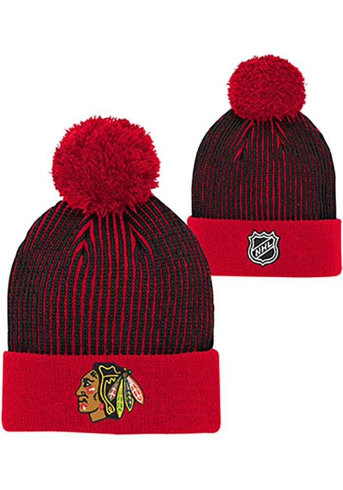 Chicago Blackhawks Red Legacy Youth Knit Hat - Image 3