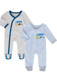 Detroit Lions Baby Sunday Best One Piece Pajamas - Grey
