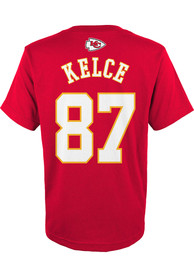 Travis Kelce Kansas City Chiefs Youth Player T-Shirt - Red