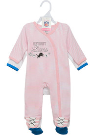Detroit Lions Baby Sunday Best One Piece Pajamas - White