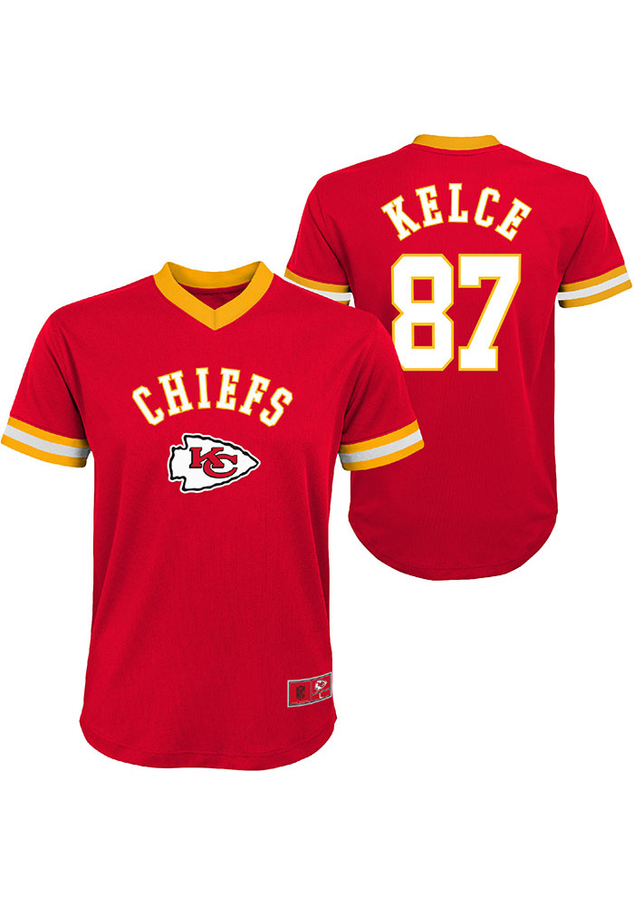 online store 03794 3aa27 Travis Kelce Kansas City Chiefs Youth Mesh Football Jersey - Red