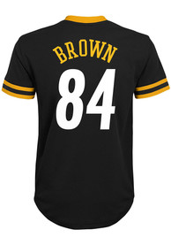 Antonio Brown Pittsburgh Steelers Youth Outer Stuff Mesh Football Jersey - Black
