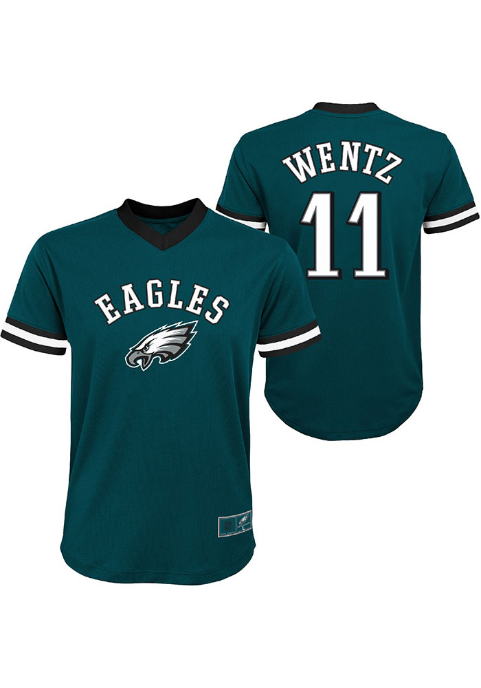 pretty nice 151a4 22c92 Carson Wentz Philadelphia Eagles Youth Mesh Football Jersey - Midnight Green
