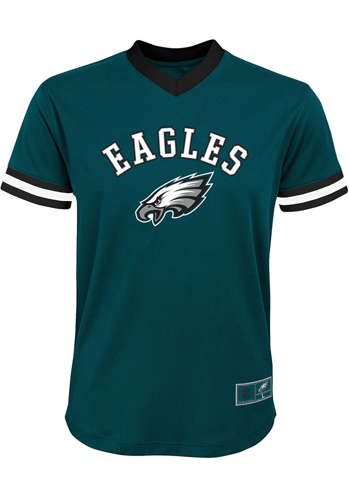 Carson Wentz Outer Stuff Philadelphia Eagles Youth Midnight Green Mesh Football Jersey - Image 3