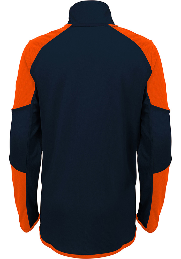 Chicago Bears Youth Navy Blue Beta Long Sleeve Quarter Zip Shirt - Image 3