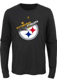Pittsburgh Steelers Youth Flux T-Shirt - Black