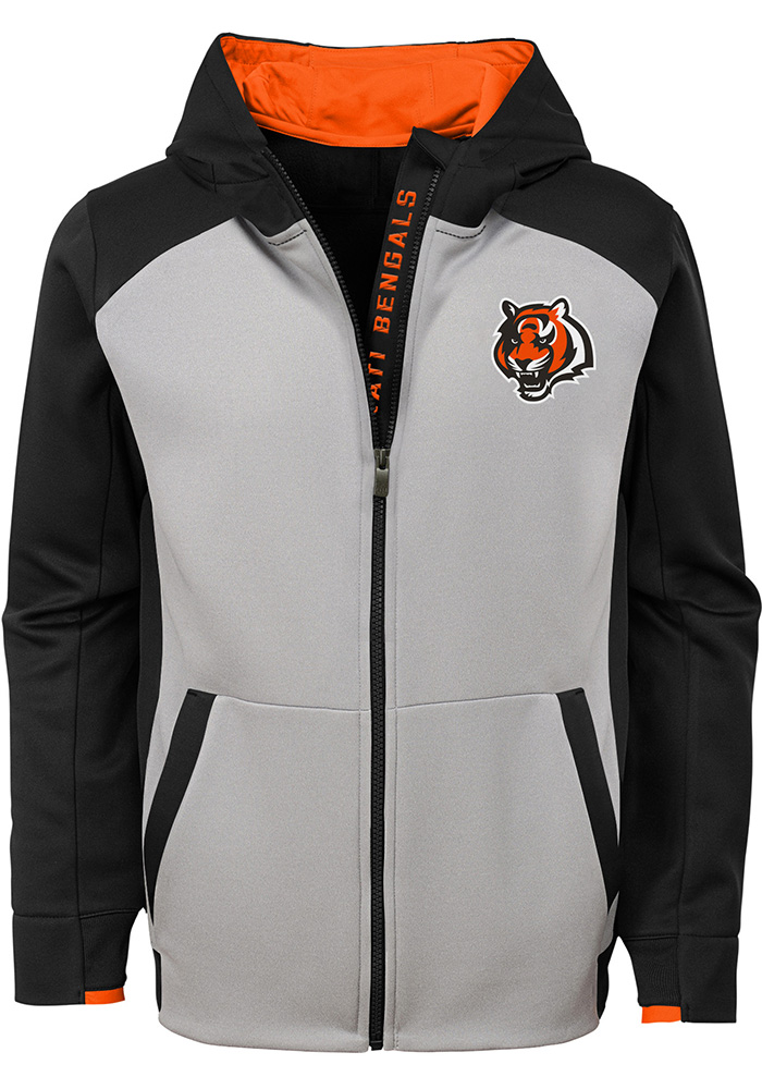 99443404c1f Cincinnati Bengals Youth Black Hi-Tech Full Zip Jacket
