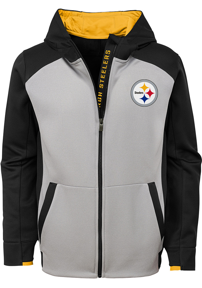 Pittsburgh Steelers Youth Black Hi-Tech Full Zip Jacket d905feef9