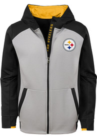 Pittsburgh Steelers Youth Hi-Tech Full Zip Jacket - Black