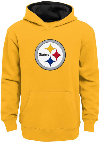 sale retailer d0073 e12a9 Pittsburgh Steelers Youth Gold Prime Long Sleeve Hoodie - 13348357