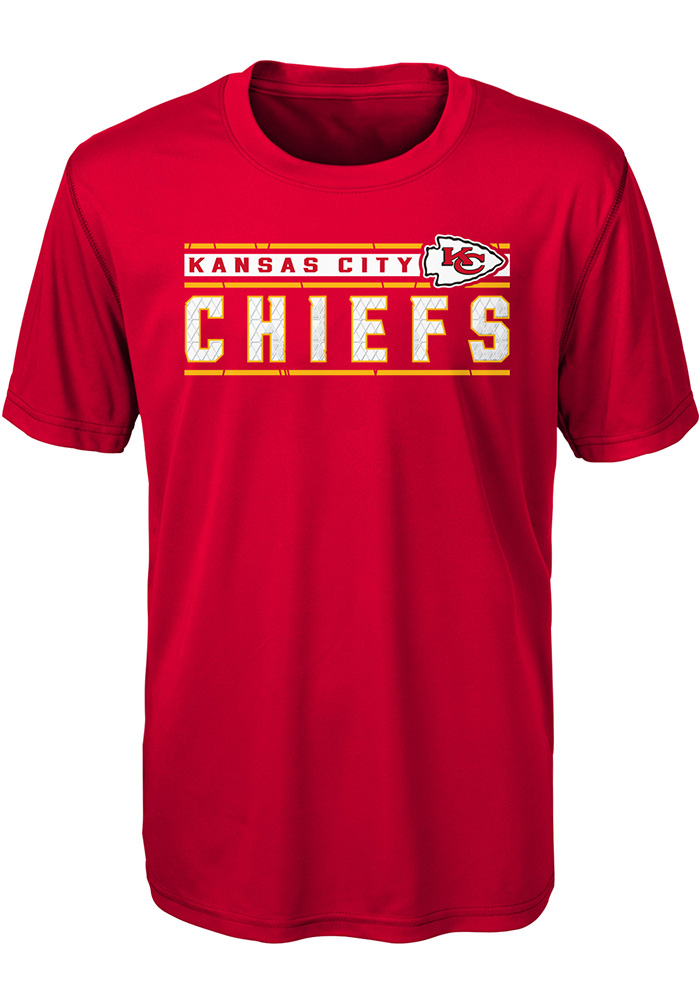 Kansas City Chiefs Youth Red Re-Generation Short Sleeve T-Shirt - Image 1