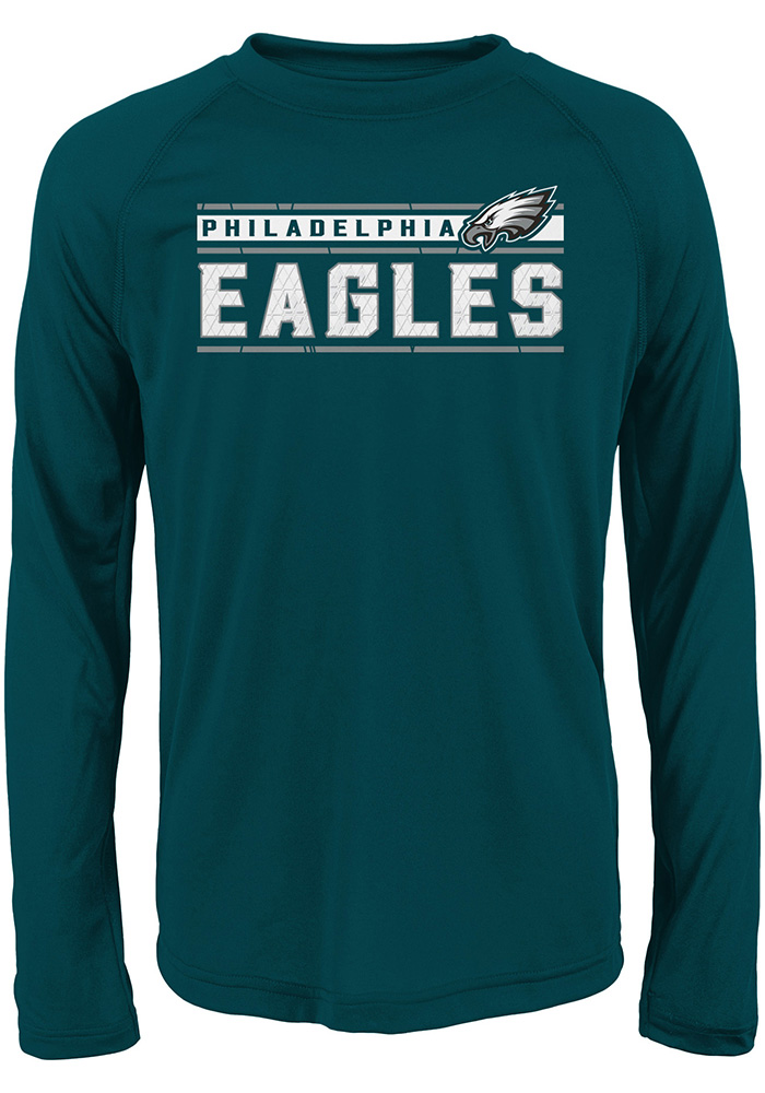 Philadelphia Eagles Boys Teal Re-Generation Long Sleeve T-Shirt - Image 1