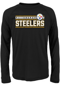 Pittsburgh Steelers Boys Black Re-Generation T-Shirt
