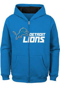 Detroit Lions Boys Stated Full Zip Hooded Sweatshirt - Blue
