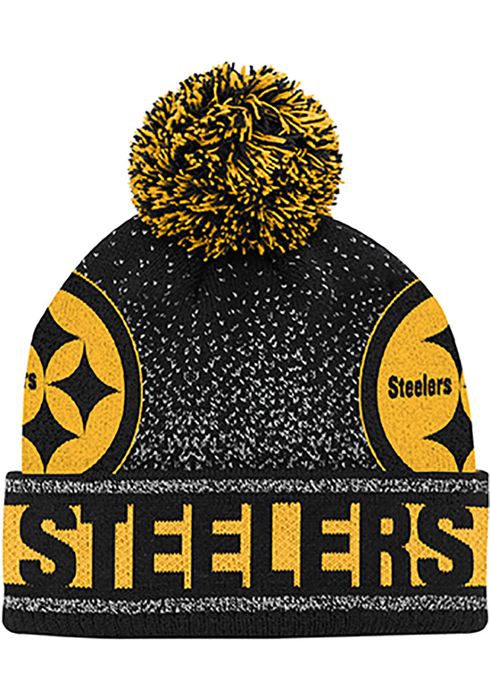 abfa8aa07 Pittsburgh Steelers Black Gradient Cuffed Youth Knit Hat