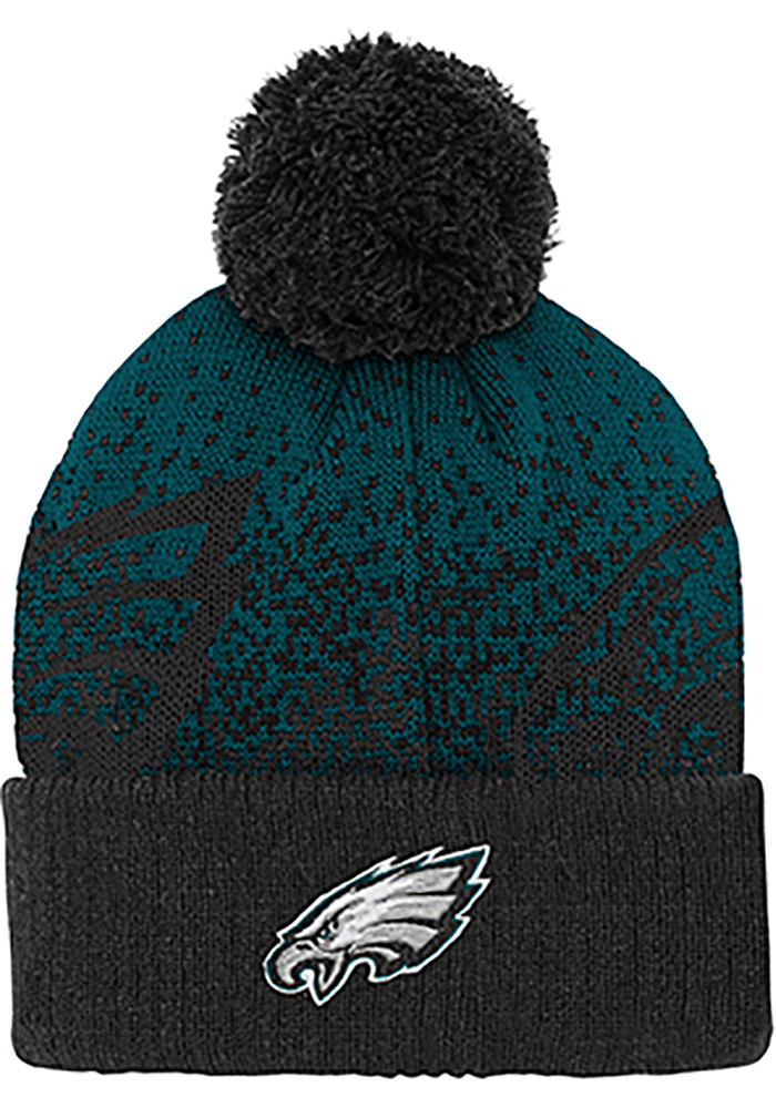 Philadelphia Eagles Green Gradient Jaquard Cuffed Youth Knit Hat - Image 1