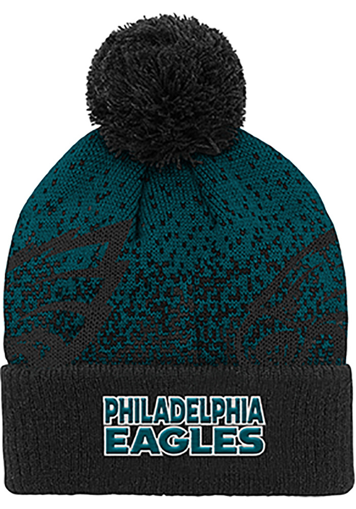 Philadelphia Eagles Green Gradient Jaquard Cuffed Youth Knit Hat - Image 2