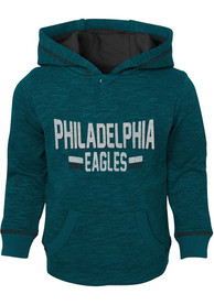 new products 25ba0 1ba42 Philadelphia Eagles Toddler Teal Tiny Lineman Hooded Sweatshirt