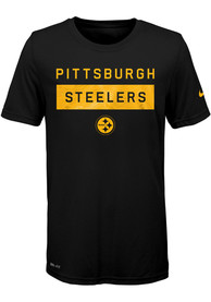Pittsburgh Steelers Youth Legend Lift T-Shirt - Black