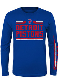Detroit Pistons Youth Blue Orion T-Shirt