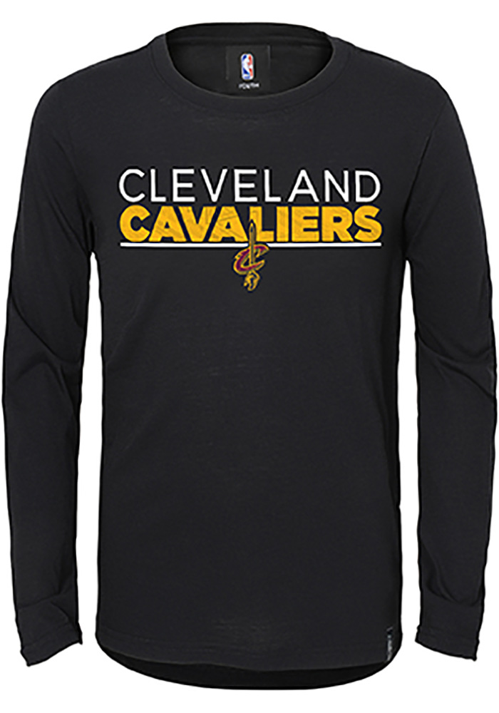 Cleveland Cavaliers Youth Black Tactical Long Sleeve T-Shirt - Image 1
