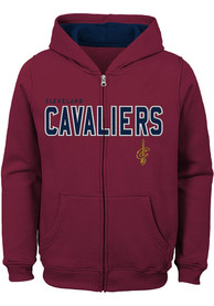 Cleveland Cavaliers Youth Foundation Full Zip Jacket - Red