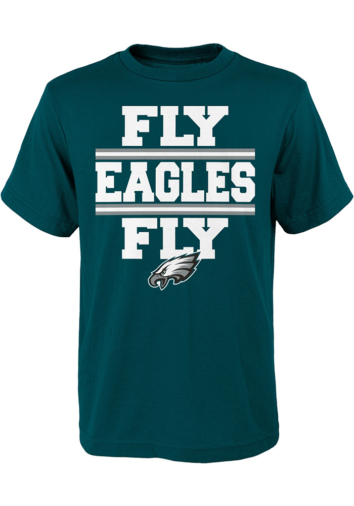 Philadelphia Eagles Youth Green Local Verbiage Short Sleeve T-Shirt - Image 1
