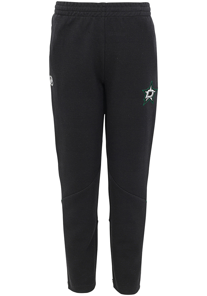 Dallas Stars Youth Black Poly Tech Track Pants - Image 1