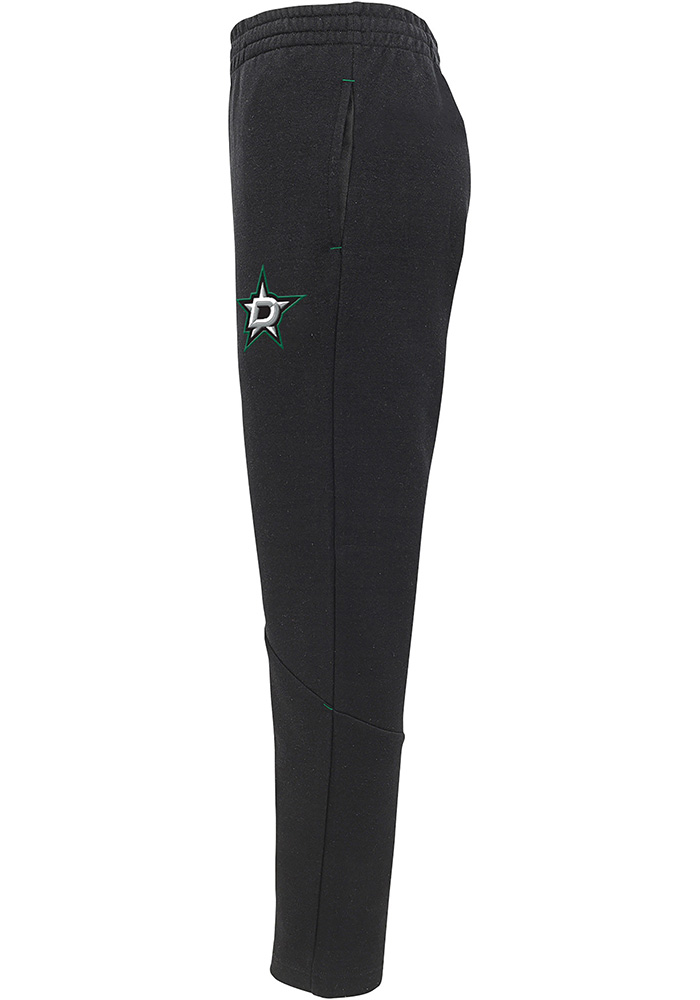 Dallas Stars Youth Black Poly Tech Track Pants - Image 2