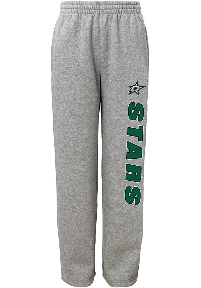 Dallas Stars Youth Grey Post Game Sweatpants - Image 1