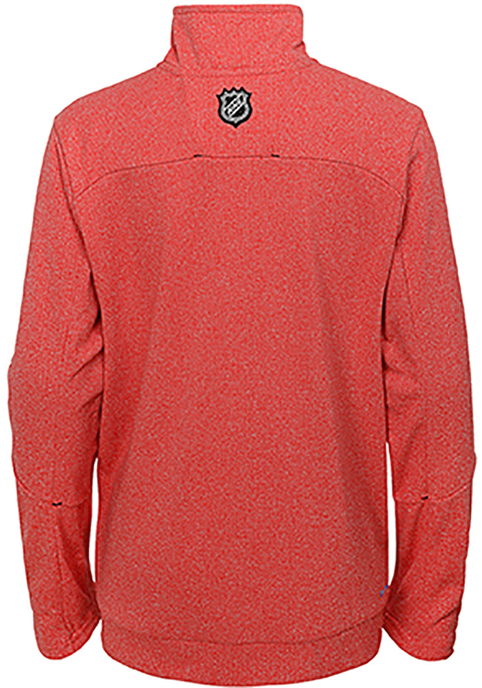 Chicago Blackhawks Youth Red Polymer Long Sleeve Quarter Zip Shirt - Image 2