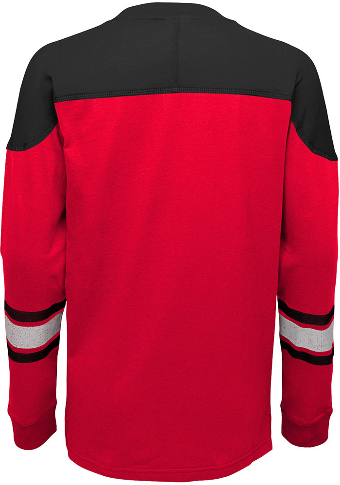 Detroit Red Wings Youth Red Perennial Long Sleeve Crew Sweatshirt - Image 2