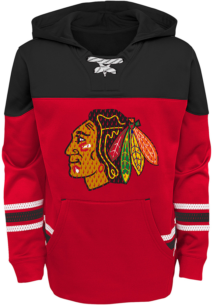 Chicago Blackhawks Youth Red Freezer Long Sleeve Hoodie - Image 1