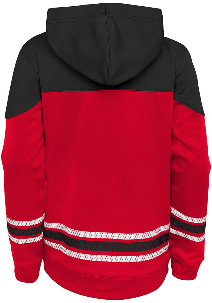 Chicago Blackhawks Youth Red Freezer Long Sleeve Hoodie - Image 2