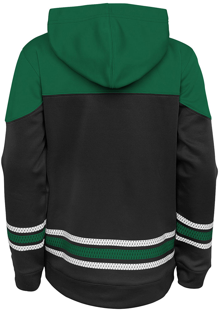 Dallas Stars Youth Black Freezer Long Sleeve Hoodie - Image 2