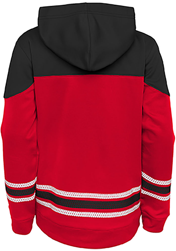 Detroit Red Wings Youth Red Freezer Long Sleeve Hoodie - Image 2