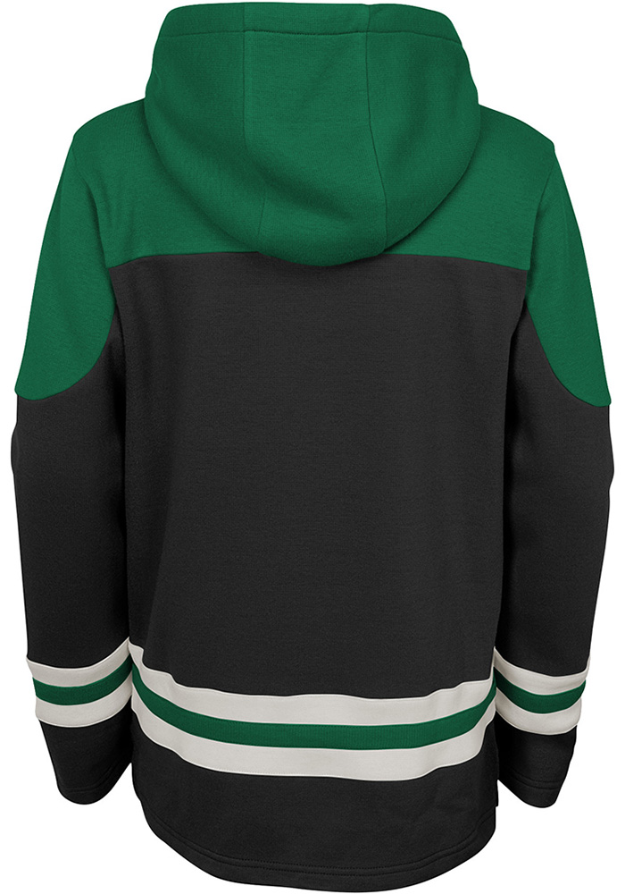 Dallas Stars Youth Black Asset Long Sleeve Hoodie - Image 2