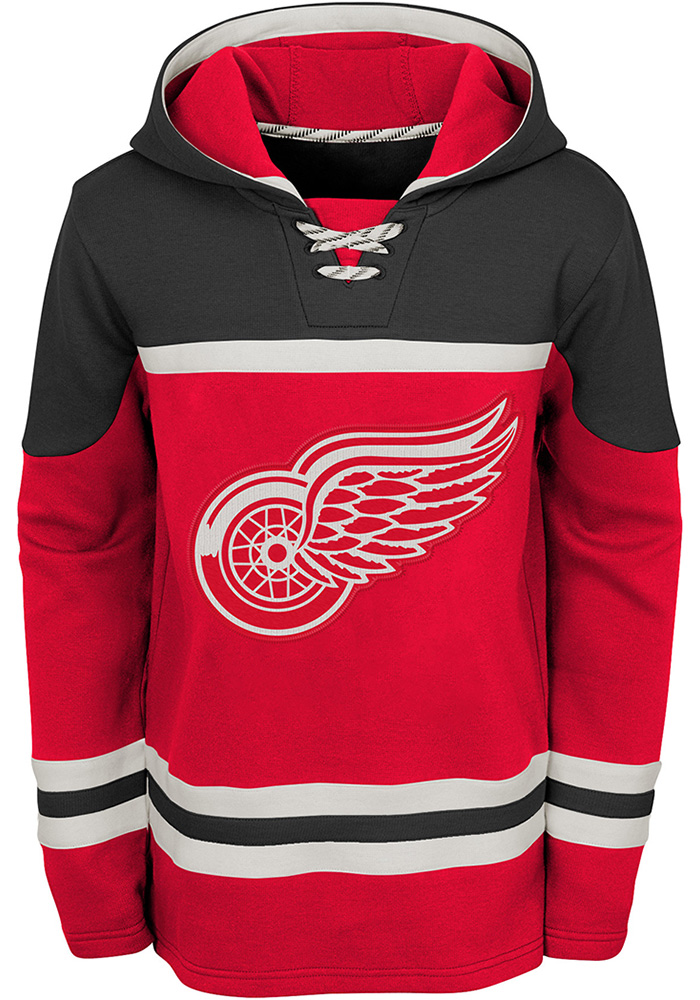 Detroit Red Wings Youth Asset Hooded Sweatshirt - Red