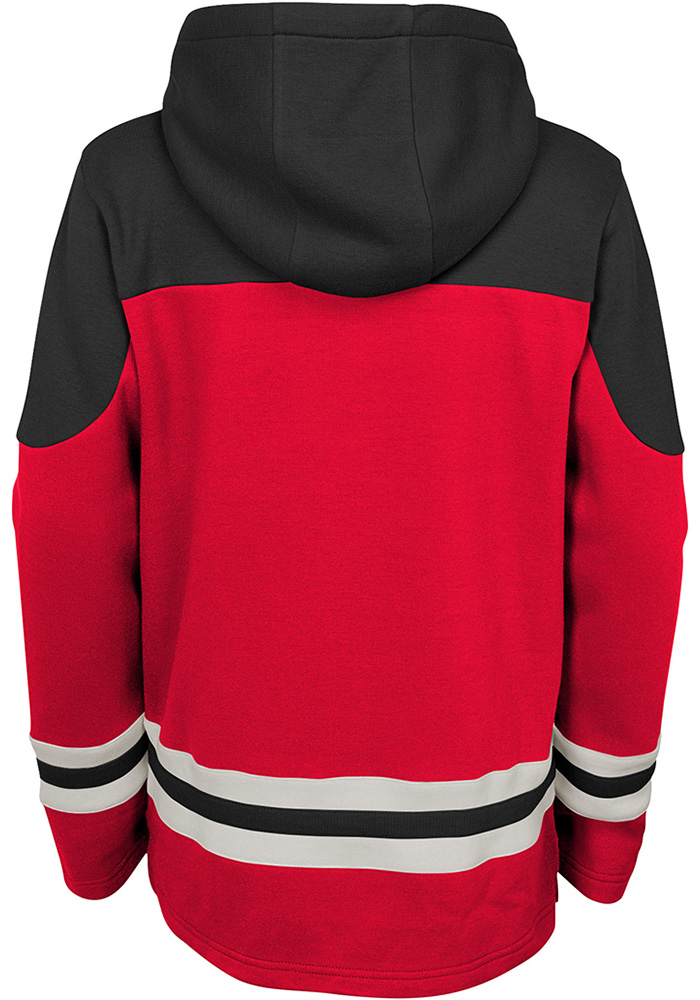 Detroit Red Wings Youth Red Asset Long Sleeve Hoodie - Image 2
