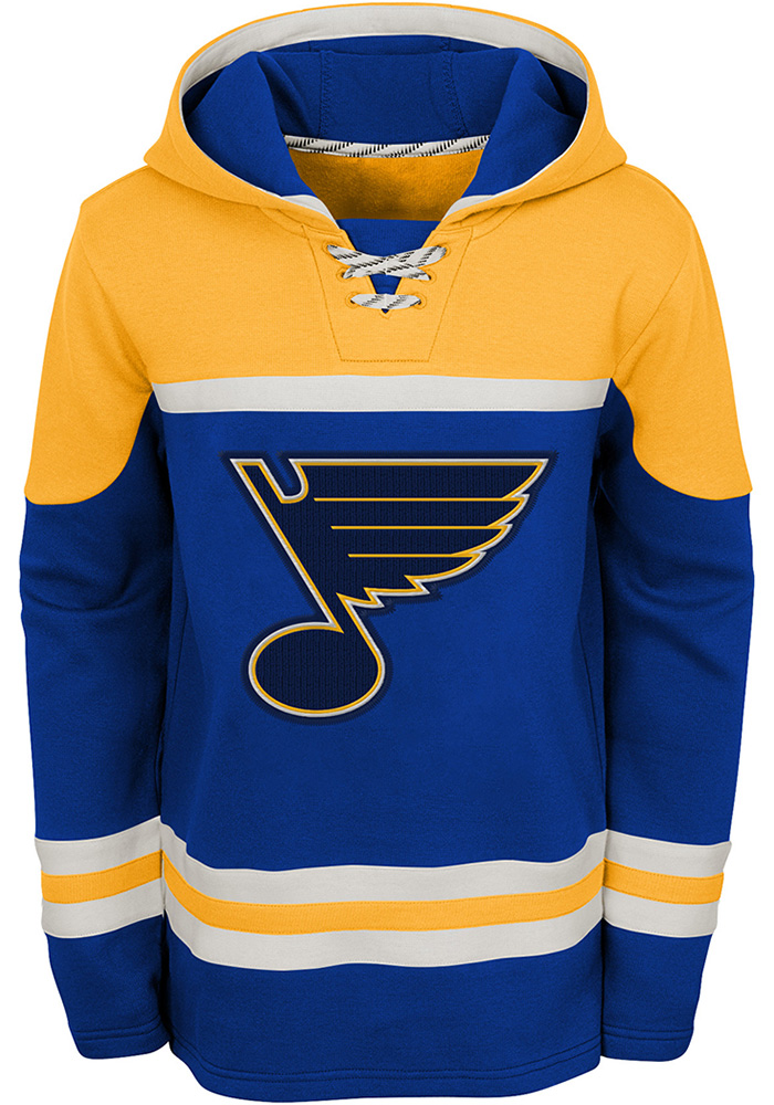 St Louis Blues Youth Blue Asset Long Sleeve Hoodie - Image 1