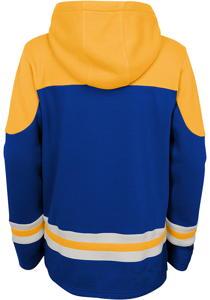 St Louis Blues Youth Blue Asset Long Sleeve Hoodie - Image 2